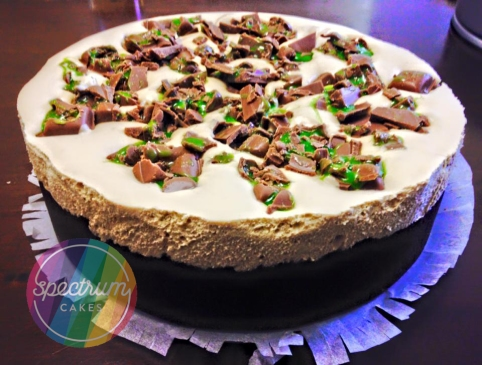 Chocolate mint Cheesecake.