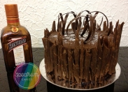 Flourless chocolate orange, yum! I love a dash of cointreau in this chocolate ganache icing