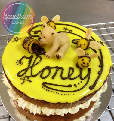 Cute marzipan decoration suitable for a Honey based cake