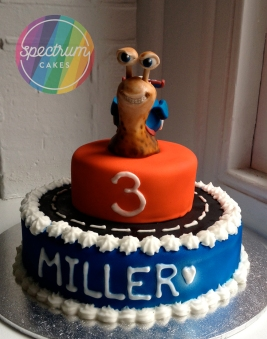 Turbo themed cake